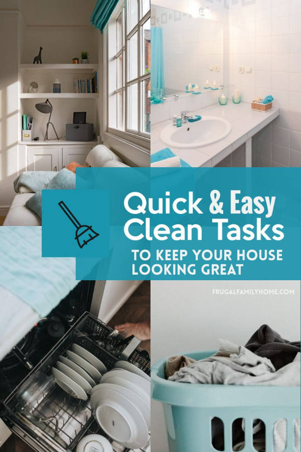 Cleaning task for every area of the house
