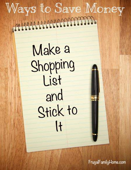Ways to Save Money, Make a List (Week #3)