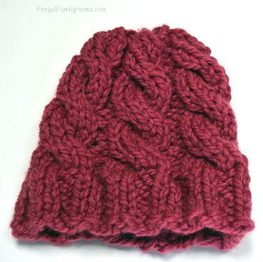 Chunky Knitted Cable hat