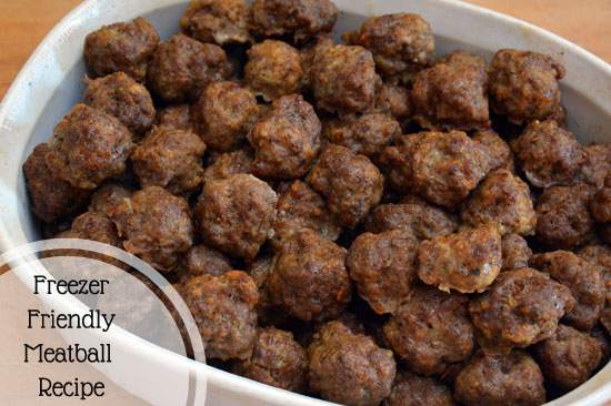 Freezer Friendly Homemade Meatball Recipe