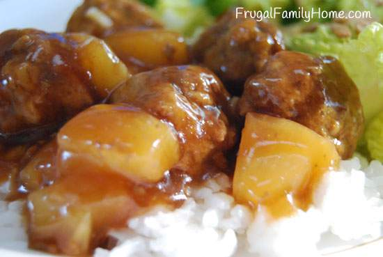 Teriyaki Meatballs with Pineapple Recipe