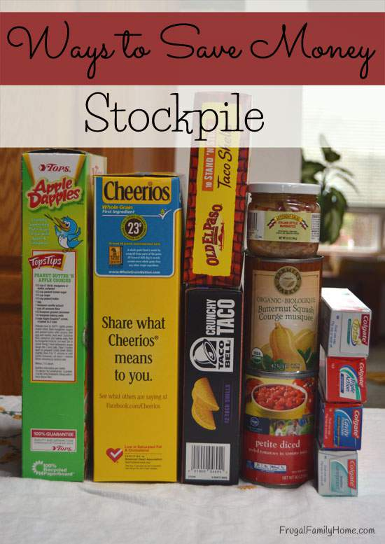 Ways to Save Money, Stockpile
