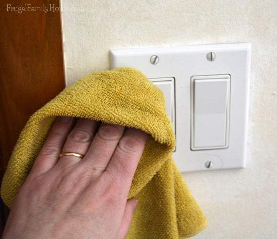 The light switches sure can get dirty. Don't forget the wall around them too.