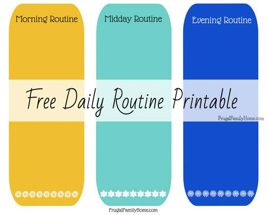Free Daily Routine Printable Pack from Frugal Family Home