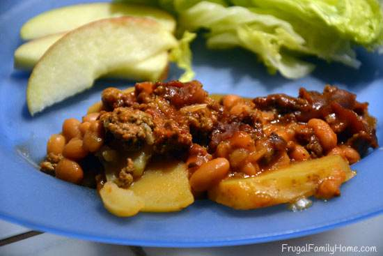 An Easy Slow Cooker Hamburger Dish Recipe from Frugal Family Home