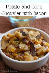 Slow Cooker Potato Corn Chowder with Bacon