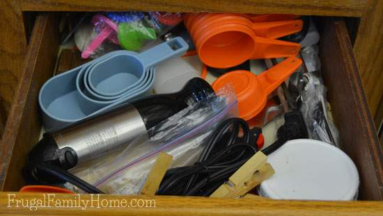 Utensil drawer was quite a mess