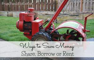 Ways to save money, share, borrow, or rent