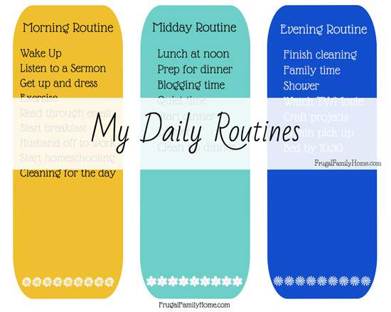 Free Daily Routines Printable Pack