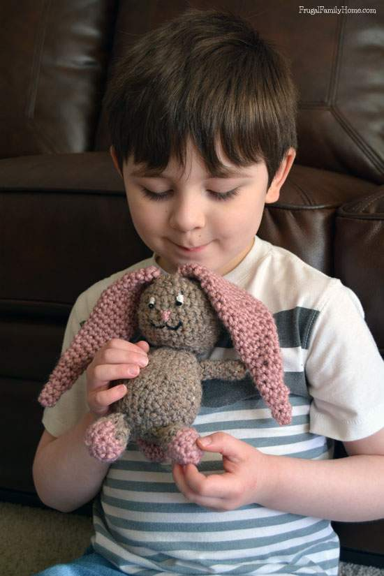 Great Easter Gift for Kids, Crochet Bunny Project