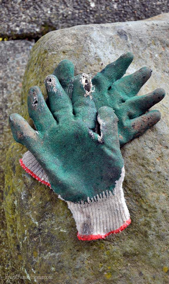 Gardening gloves really help to protect your hand.