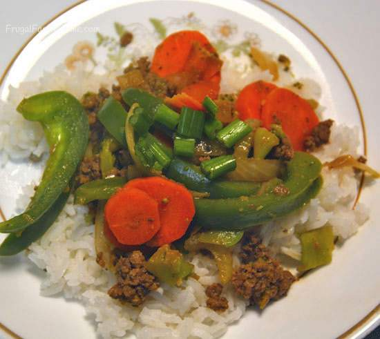 An easy recipe for Mongolian Ground Beef.