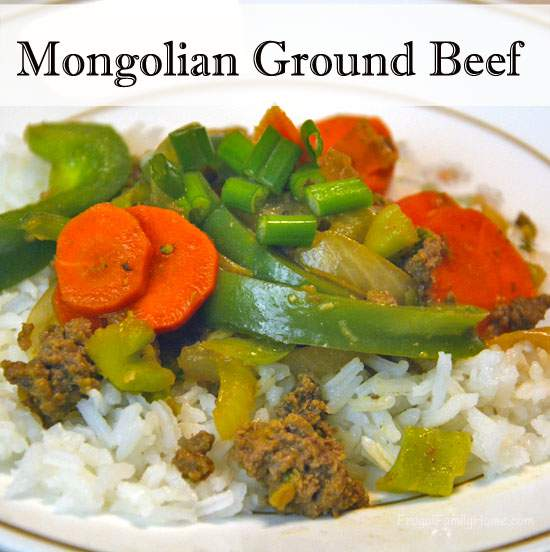 Mongolian Ground Beef Stir Fry