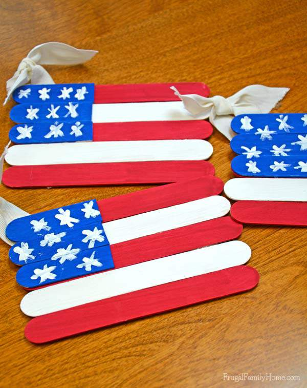 4th of July Popsicle Flags, Frugal Family Home