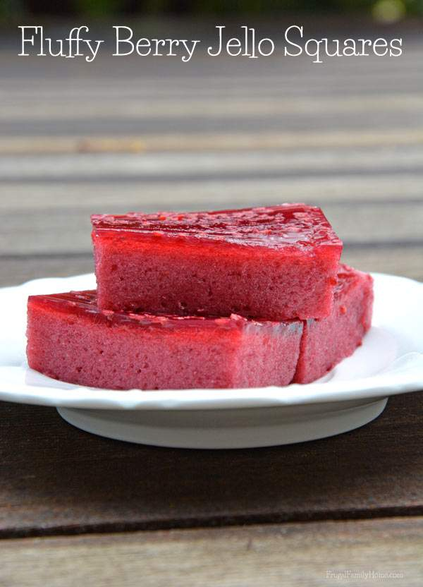 Fluffy Berry Jello Square Recipe, Frugal Family Home