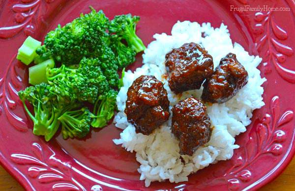 Easy to make meatballs with the great flavor of hoisin sauce, Frugal Family Home