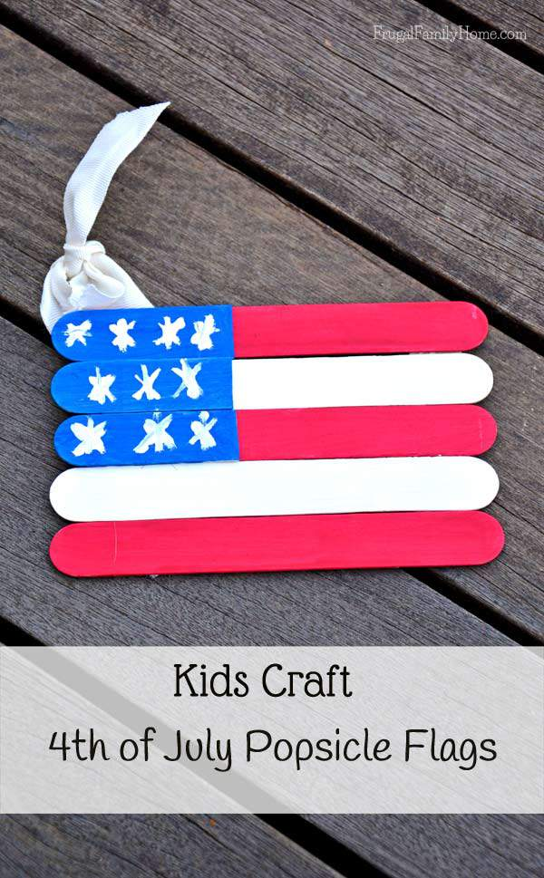 Kids Craft, 4th of July Flags, Frugal Family Home