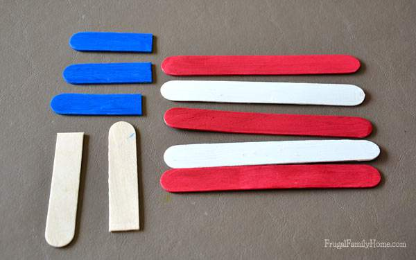 What you will need to make these 4th of July Flags
