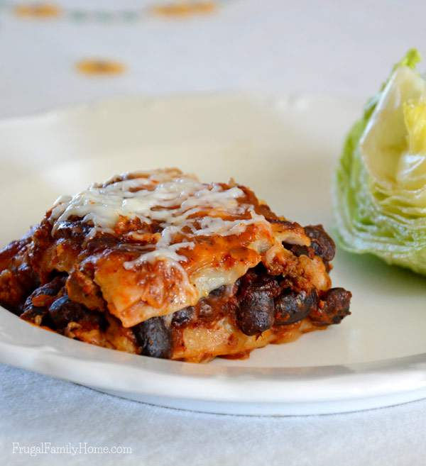 Beef and Bean Enchiladas from the slow cooker, Frugal Family Home