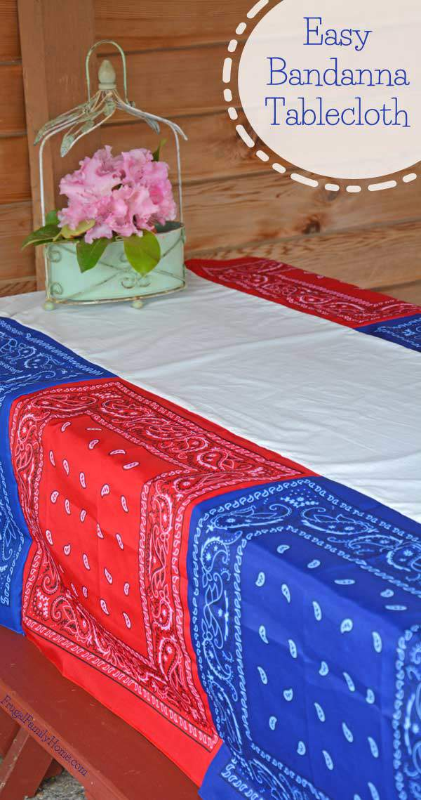 Easy Bandanna Tablecloth