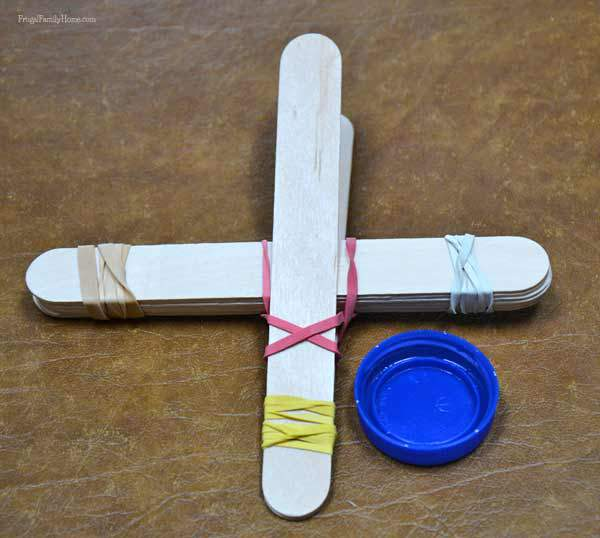 Easy to assemble kids catapult craft, Frugal Family Home