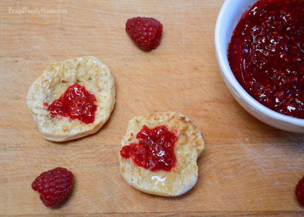Freezer Jam made with Raspberries | Frugal Family Home