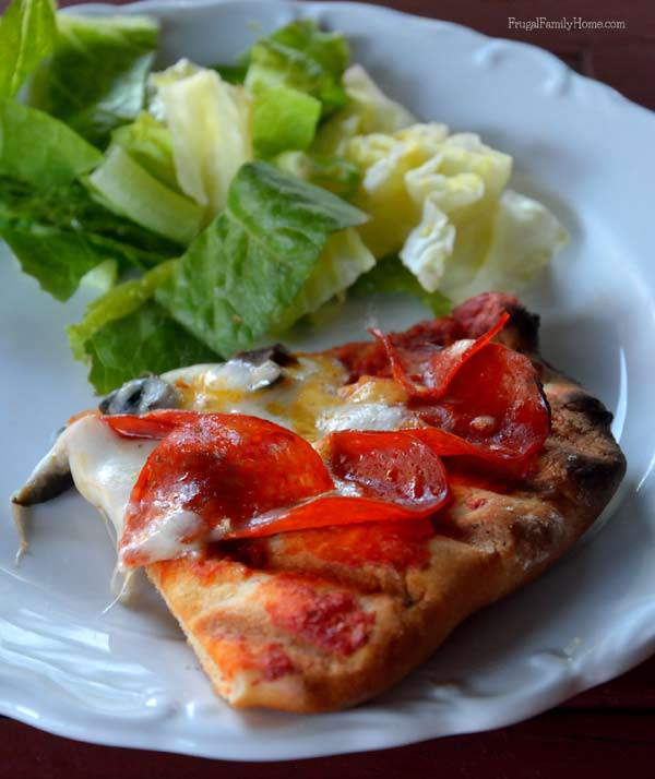 Delicious Grilled Pizza | Frugal Family Home