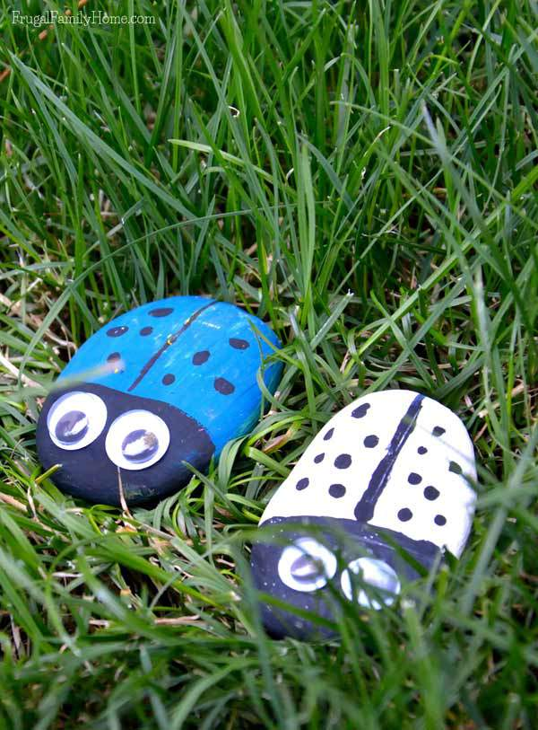 Cute kids craft, Ladybugs rocks | Frugal Family Home