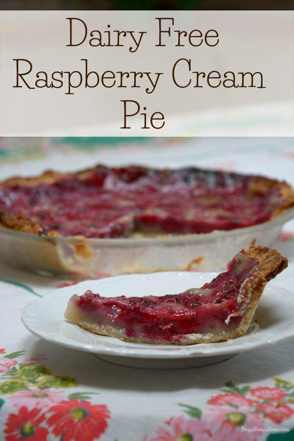 Summer Pie, Raspberry Cream Pie | Frugal Family Home