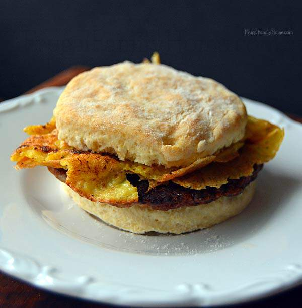 Freezer Cooking, Easy Breakfast Sandwich | Frugal Family Home