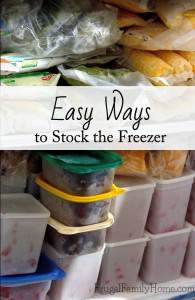 Easy Ways to Stock the Freezer