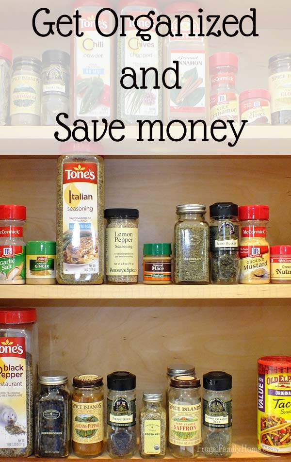 Getting organized can help you save money | Frugal Family Home