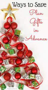 Ways to Save Money, Plan for gifts in advance | Frugal Family Home