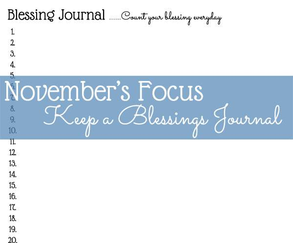 Free printable blessings journal page | Frugal Family Home