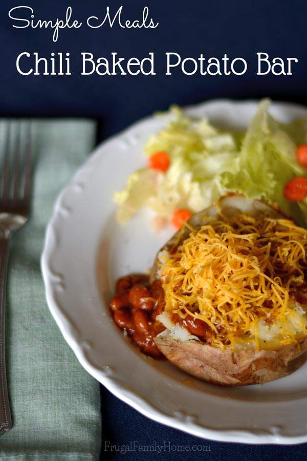 Easy dinner solution, Chili Baked Potato Bar