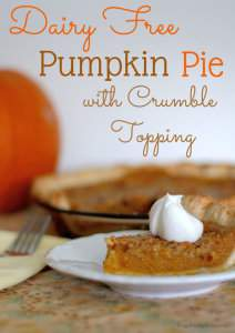 Delicious Dairy Free Pumpkin Pie Recipe | Frugal Family Home