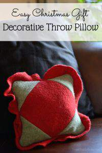 Easy Gift Idea, Christmas Throw Pillow