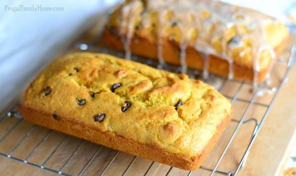 Maple Glazed Pumpkin Bread | Frugal Family Home