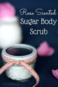 Rose Scented Sugar Body Scrub
