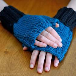 Easy Knit Pattern, Fingerless Gloves