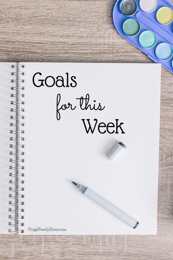 My goals for this week and how last week went too.