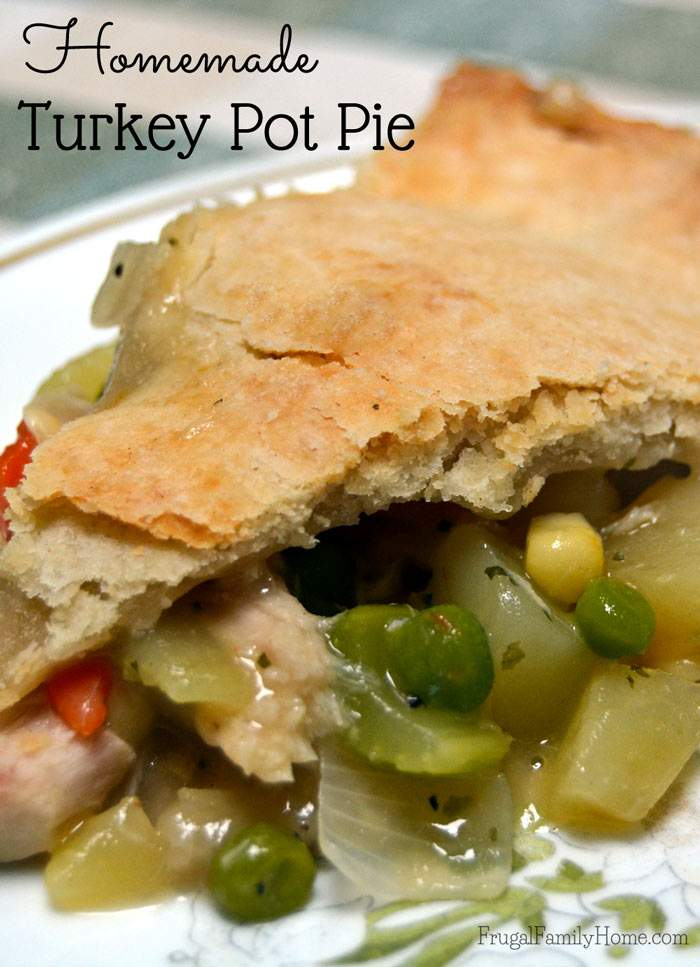 Comfort foods are so great during the winter months, when it's cold outside. This turkey pot pie recipe is great for using up some of the cooked turkey in the freezer.