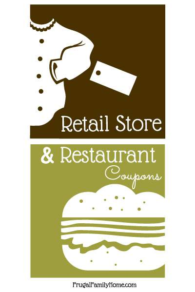 This week's retail store and restaurant coupons