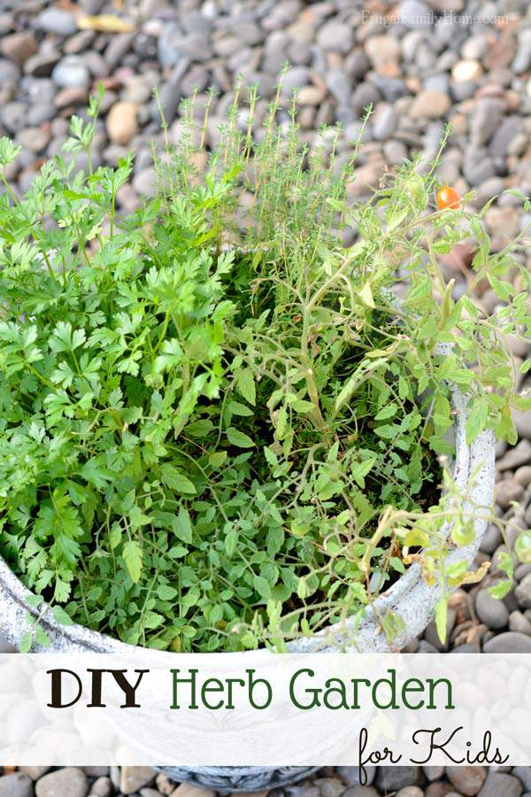 Get your kids into growing their own food with this easy herb garden container project for them.
