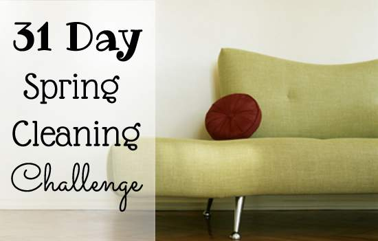 Get your spring cleaning started. Sign up for the 31 day Spring Cleaning challenge.