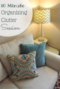 10 Minute Organizing Clutter Session