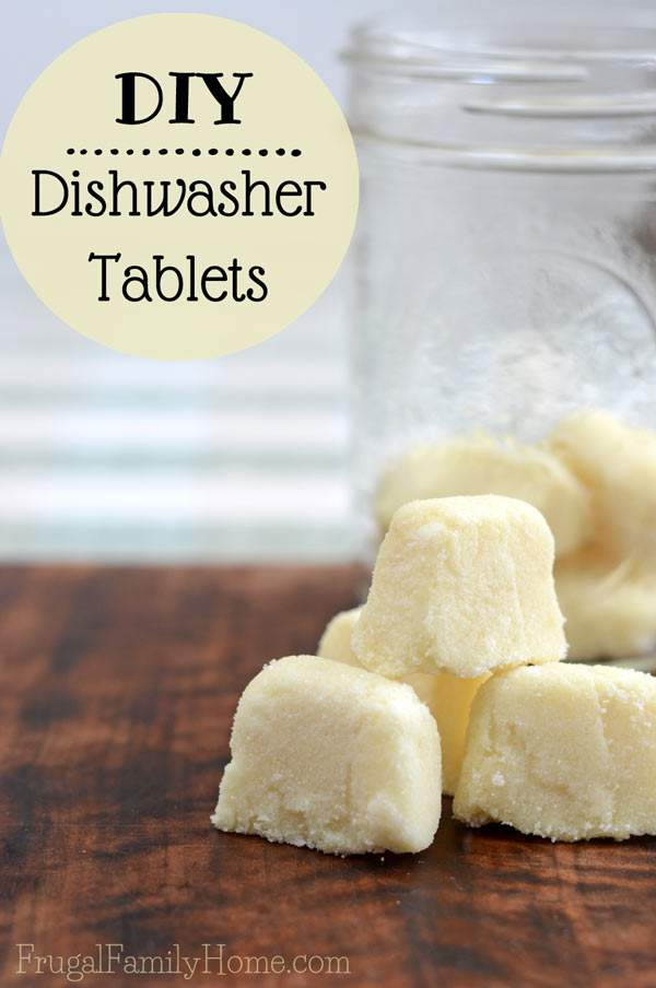 Making your own dishwasher tablets can save you money.