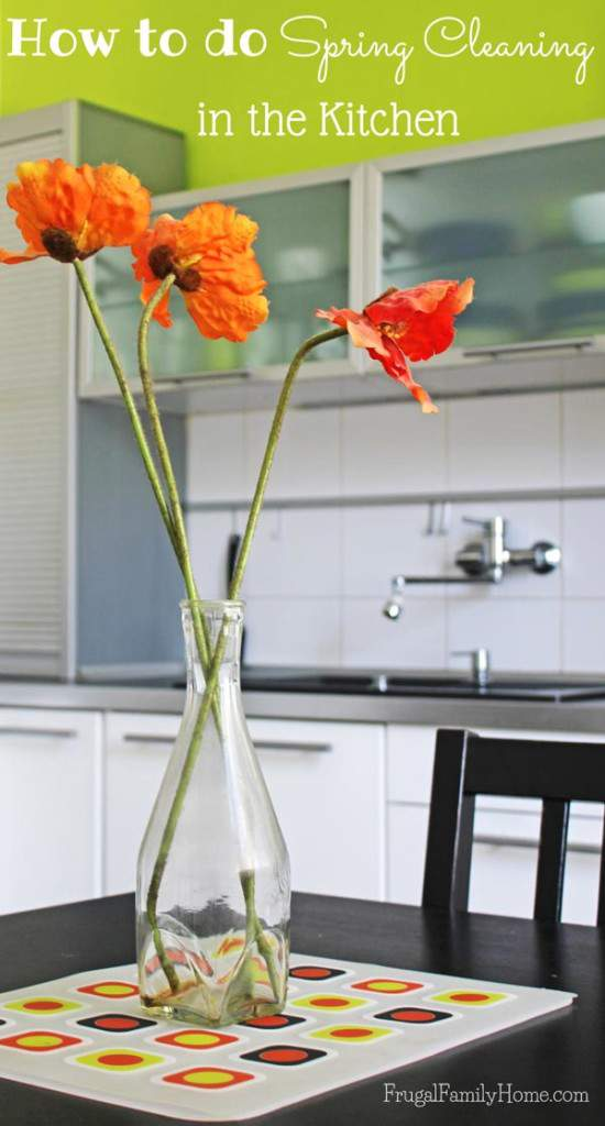 Spring Cleaning the kitchen is never very much fun, but when it's done it looks so great. Here's how I spring clean in the kitchen.