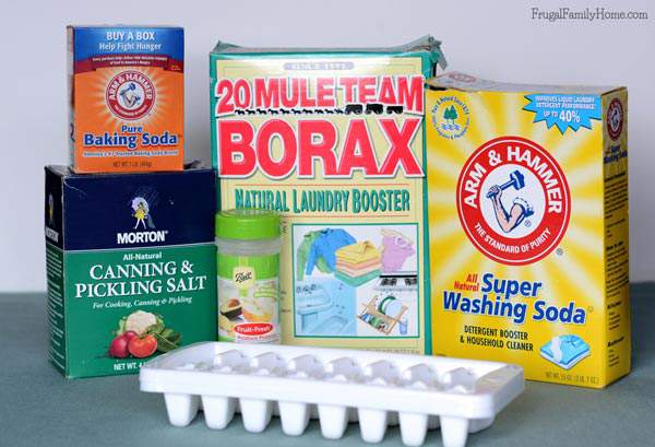 Just a few ingredients are needed to make your own dishwasher tablets.