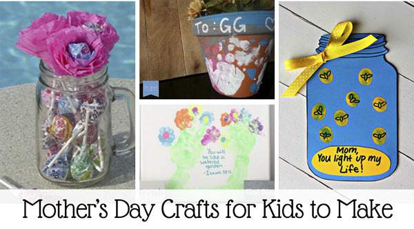 Easy craft ideas for kids to make mom for Mother's day.